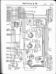 57 65 ford wiring diagrams 1964 6 v8 galaxie right