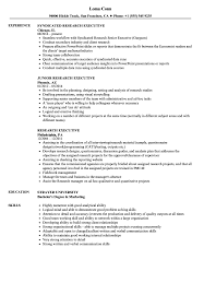 Research Resume Samples Research Executive Resume Samples Velvet Jobs