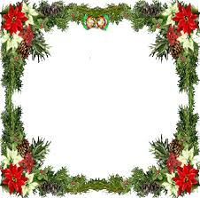 holiday frame png image black and white stock