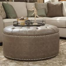 round leather ottoman coffee table. Accessories: Modern Home Interior Furniture Ideas With Round Leather Ottoman \u2014 Poppingtonart.com Coffee Table