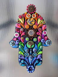 judaica art embellished hamsa jewish wall art decor hand crafted ooak custom made 95 00 via etsy  on jewish hamsa wall art with judaica art embellished hamsa jewish wall art decor hand crafted