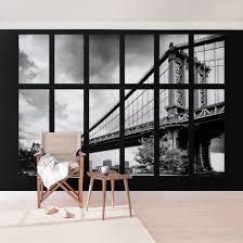 Fototapete New York Fenster Manhattan Brücke Ny Vliestapete Breit