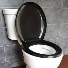 black toilet seat soft close. bathroom soft close black oval toilet seat | adjustable top bottom fixing hinges ecospa® f