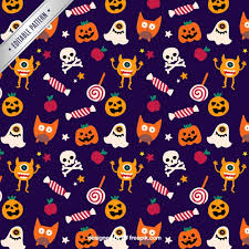 Halloween Pattern Amazing Cute Halloween Pattern Vector Premium Download
