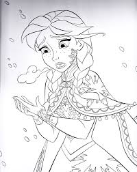 Disney Frozen Coloring Pages Large Images Entertainment Books Book