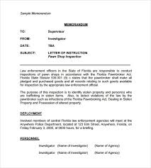 Sample Of Memorandum Letter Sample Casual Memo Letter 8 Examples Format
