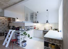 Studio Loft Apartment Inexpensive Studio Apartment Renovation With All In One Kitchen