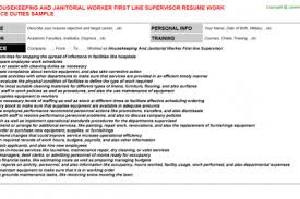 templates Resume For Custodial Worker Reentrycorps free resume maker .