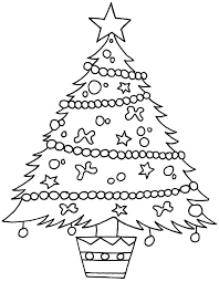 Christmas Tree Coloring Page Template 1