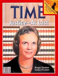 Image result for 1981 –  Sandra Day O'Connor to become the first female member of the Supreme Court