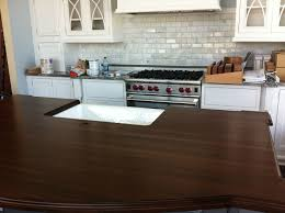 dark wood countertops