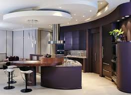 View in gallery An elegant dark purple kitchen has a certain charm