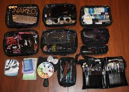 the photo above shows generally what i would carry with me to a makeup gig i pack more than i need because you can never be too safe