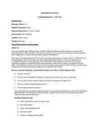 Visual Merchandiser Resume Best Of Visual Merchandiser Resume Sample