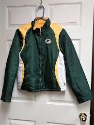 nfl team apparel women s green bay packers reversible jacket size l fleece heroes sports cards