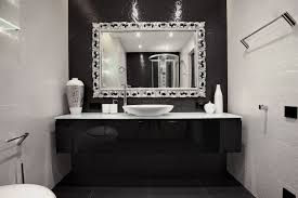 carved silver framed mirror with chrome tone for bathroom ideas framed bathroom mirror ideas e3