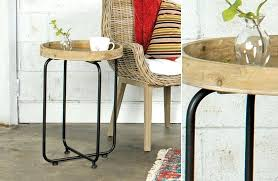 round wood and metal side table round metal and wood side table round metal and wood