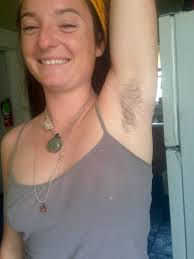 Very hairy mature armpit
