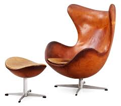 leather egg chair.  Chair An Arne Jacobsen Brown Leather U0027Egg Chairu0027 With Ottoman By Fritz Hansen  Denmark 1963  Bukowskis With Leather Egg Chair J