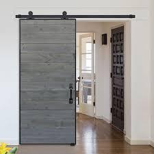 glasscraft model horizontal iron plank barn door