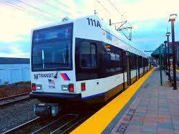 New Jersey Transit Newark Light Rail Car 111 Grove Str