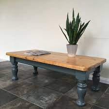 Convenience concepts winston coffee table. Vintage Painted Upcycled Solid Pine Coffee Table In Farrow And Ball Downpipe Yellow Pigeon Bespoke Furniture Vinterior