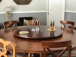 large wood lazy susan for dining table from 18 inch up to 48 50 52 54 56 58 or even 60 inch diameter