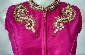 Saree Blouse Hand Work Designs Buy Araja Fashion Pink Hand Work Designer Saree Blouse At