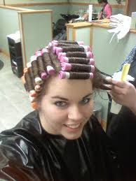 Womans fetish hair roller