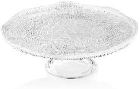 ivv footed cake plate 32cm clear