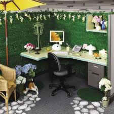 decorating ideas for office cubicles. Modern Corner Desk With Green Screen For Stylish Decorating Ideas Office Cubicles Unique Tropical Interior Design F