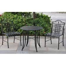 iron patio furniture. Abbottsmoor Iron Patio 3 Piece Bistro Set Iron Patio Furniture