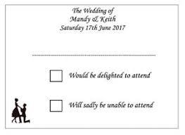 plain rsvp cards 10 handmade personalised wedding rsvp cards ebay