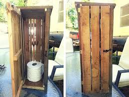 Pallet Toilet Paper Roll Storage Cabinet