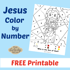 Jesus christ, joseph and mary. The Activity Mom Jesus Color By Number Free Printable The Activity Mom