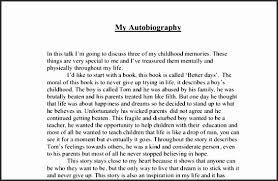 sample autobiography for college application besttemplates 16 sample autobiography for college application