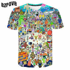 2019 New <b>Simpson</b> Snoopy and other animation 3D <b>printing</b> T shirts ...