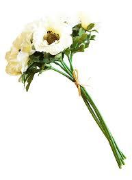 white anemone bundle of 6 by k k interiors inc 13 5 l each bundle has 6 stems tied with raffia by kk interiors walmart