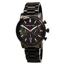 michael kors mk8371 gent 039 s chrono gunmetal dial gunmetal ip watch michael kors mk8371 men s pennant gunmetal dial gunmetal ip steel bracelet chronograph watch