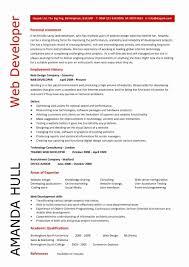 ... Resume format for Web Developer Inspirational Web Design Resume  Template Web Designer Cv Sample Example Job ...