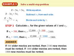 example 5 solve a multi step problem r 5n 1 3n 2 r