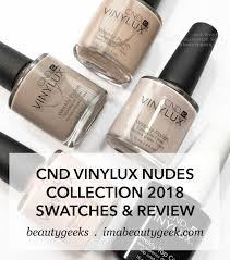 Cnd Vinylux Nudes Collection 2018 Swatches Review