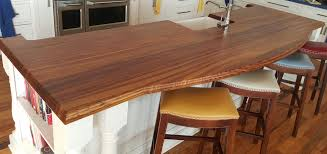 zebrawood flat grain wood kitchen countertop large double roman ogee edge profile custom tung oil blend finish designed by probuild kitchen and bath