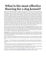 best flooring for dog kennels designs