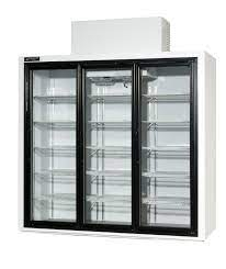 three door refrigerated beverage cooler