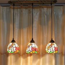 flower dragonfly stained glass pendant light american minimalist tiffany lamp living room pendant light bar kitchen light tiffany pendant light glass