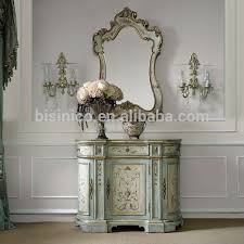 Vintage Hand Painted Console Table With Mirror,Home Decorative ...