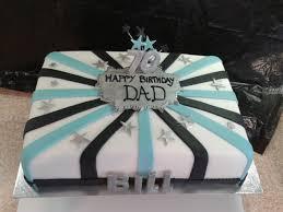 70th Cake Designs Tags 70th Bill Birthday Cake Black More Blue Silver Dad