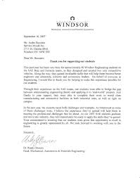 Appreciation Letter University Of Windsor Appreciation Letter