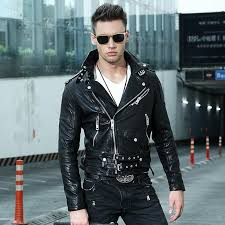2019 2018 black men slim fit leather motorcycle jacket diagonal zipper genuine sheepskin short biker leather coat xl from humanhair116 406 09 dhgate